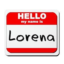 Hello my name is Lorena Mousepad