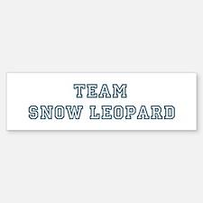 Team Snow Leopard Bumper Bumper Bumper Sticker