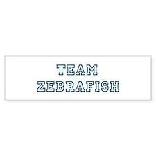 Team Zebrafish Bumper Bumper Sticker