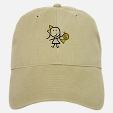 Girl & French Horn Baseball Baseball Cap