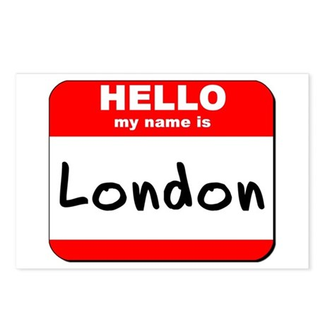 Hello my name is London Postcards (Package of 8)