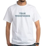 Team woodpecker Mens White T-shirts
