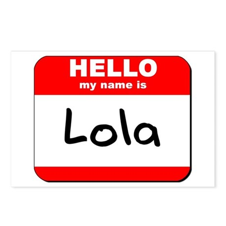 Hello my name is Lola Postcards (Package of 8)