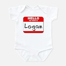 Hello my name is Logan Infant Bodysuit