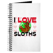 I Love Sloths Journal