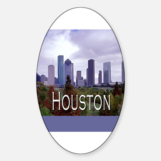 Houston 2 Oval Decal