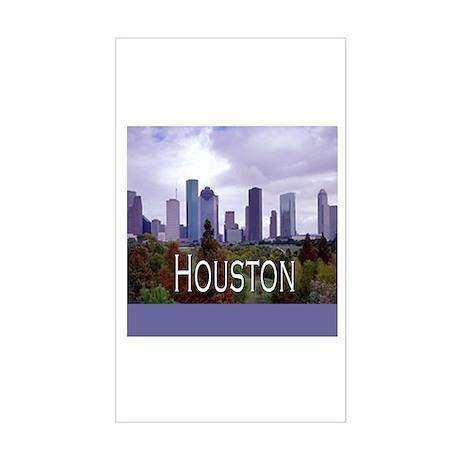 Houston 2 Rectangle Sticker