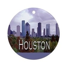 Houston 2 Ornament (Round)