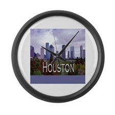 Houston 2 Large Wall Clock