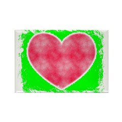 pink heart Rectangle Magnet (10 pack)