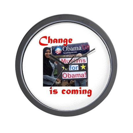 MUSLIMS FOR OBAMA Wall Clock