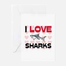 I Love Sharks Greeting Cards (Pk of 10)