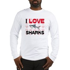 I Love Sharks Long Sleeve T-Shirt