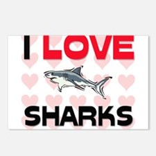 I Love Sharks Postcards (Package of 8)