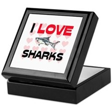 I Love Sharks Keepsake Box
