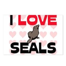 I Love Seals Postcards (Package of 8)