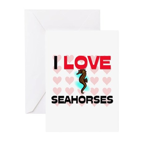 I Love Seahorses Greeting Cards (Pk of 10)