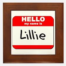 Hello my name is Lillie Framed Tile