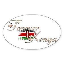 Forever Kenya - Oval Decal