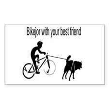 Bikejor Rectangle Sticker 10 pk)