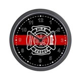 Firefighter paramedic Wall Clocks