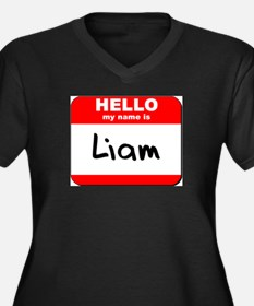Hello my name is Liam Women's Plus Size V-Neck Dar