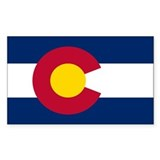 Colorado flag Bumper Stickers