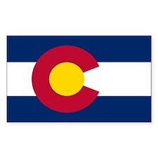 Colorado State Flag Rectangle Sticker 10 pk)