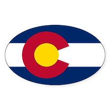 Colorado State Flag Oval Bumper Stickers