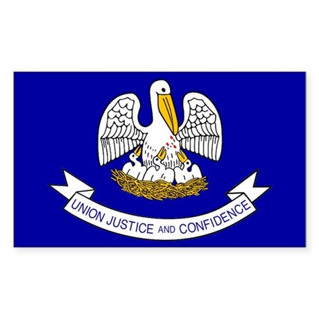 Louisiana State Flag Rectangle Sticker