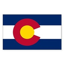 Colorado State Flag Rectangle Bumper Stickers