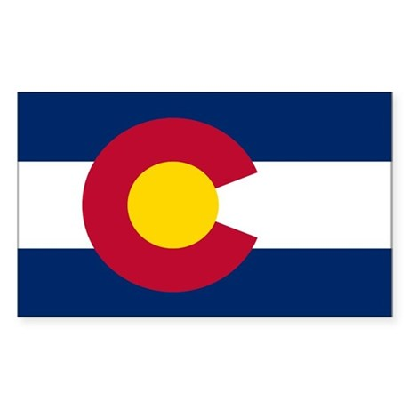 Colorado State Flag Rectangle Sticker