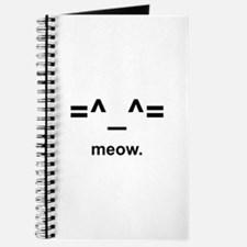 Anime Kitty Cat Emoticon Journal