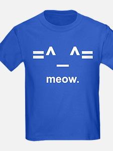 Anime Kitty Cat Emoticon T-Shirt (Kids Dark)