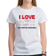 I Love Ruby-Throated Hummingbirds Women's T-Shirt