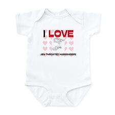 I Love Ruby-Throated Hummingbirds Infant Bodysuit