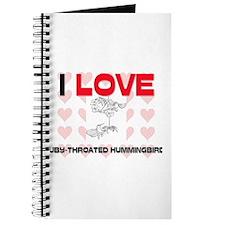 I Love Ruby-Throated Hummingbirds Journal