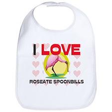 I Love Roseate Spoonbills Bib