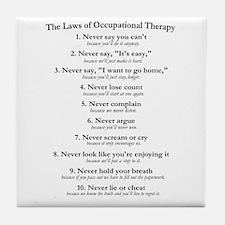 Laws of O.T. Tile Coaster