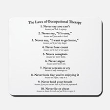 Laws of O.T. Mousepad