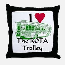 AFTM I Love ROTA Trolley Throw Pillow