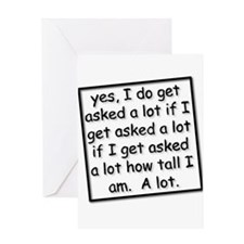 Unique Tall and short Greeting Card