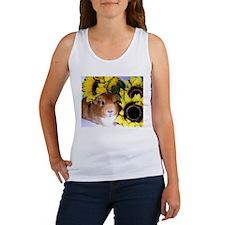 Sunflowers Pig! Women's Tank Top
