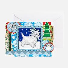 Scrapbook Westie Christmas Greeting Card