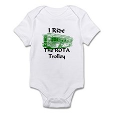 AFTM I Ride The ROTA Trolley Infant Bodysuit