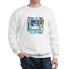 Scrapbook Weimaraner Christmas Sweatshirt