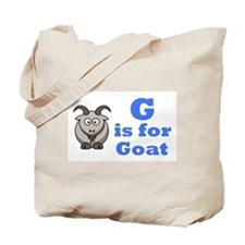G is for Goat Blue - Tote Bag