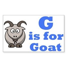 G is for Goat Blue - Rectangle Decal