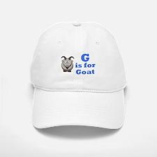 G is for Goat Blue - Baseball Baseball Cap