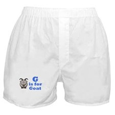 G is for Goat Blue - Boxer Shorts